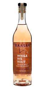 "Raasay ""While We Wait"" Single Malt. Image courtesy R&B Distillers."