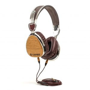 LSTN Sound's Chivas Whisky Barrel Troubador headphones. Image courtesy LSTN Sound.