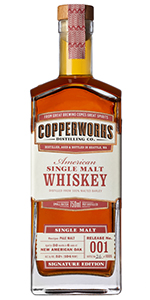 Copperworks American Single Malt. Image courtesy Copperworks Distilling.