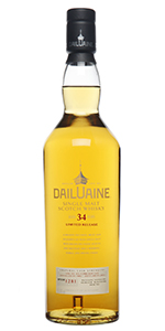 Dailuane 34 Years Old. Image courtesy Diageo.