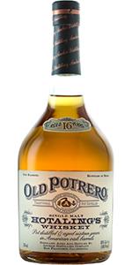 Old Potrero Hotaling's Single Malt Rye Whiskey. Image courtesy Anchor Distilling.