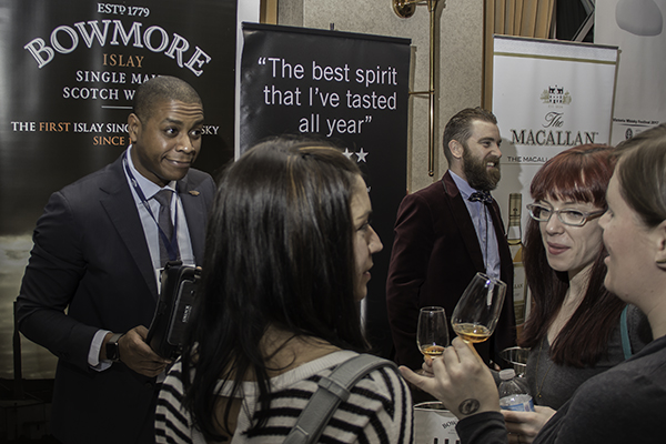 Marcio Ramos speaks with whisky fans at the Victoria Whisky Festival January 21, 2017. Photo ©2017, Mark Gillespie/CaskStrength Media.