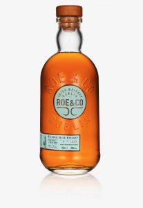 The bottle for Diageo's new Roe & Co. Blended Irish Whiskey. Image courtesy Diageo.