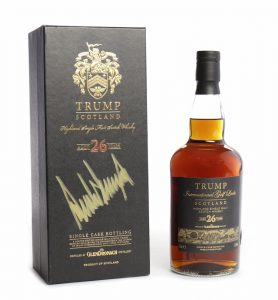 "The ""Trump Scotland"" whisky to be auctioned at McTear's in Glasgow on January 13, 2017. Image courtesy McTear's."