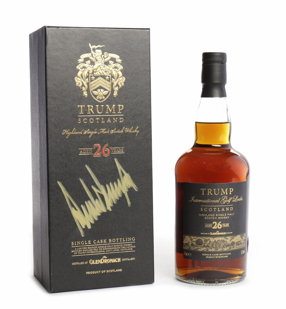 "The ""Trump Scotland"" whisky to be auctioned at McTear's in Glasgow on January 13, 2017. Image courtesy McTears."