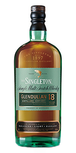 The Singleton of Glendullan 18. Image courtesy Diageo.