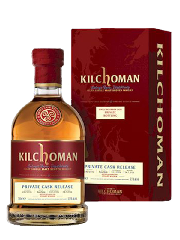 The Kilchoman single cask bottled for Stuart Wilson. All 257 bottles were stolen after a truck driver delivered them to the wrong address. Image courtesy Kilchoman Distillery.