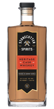 Stonecutter Spirits Heritage Cask Whiskey. Image courtesy Stonecutter Spirits.