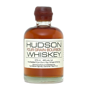 Hudson Four Grain Bourbon Whiskey. Image courtesy Tuthilltown Spirits/William Grant & Sons.