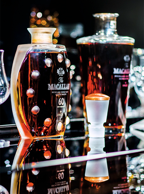 Part of The Macallan in Lalique Legacy Collection auctioned at Sotheby's in Hong Kong April 2, 2017. Image courtesy Sotheby's.