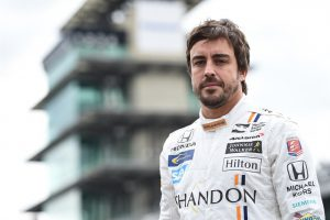 2-time F1 World Champion Fernando Alonso at today's test session for the Indianapolis 500 at Indianapolis Motor Speedway on May 28, 2017. IMS photo by Chris Owens.