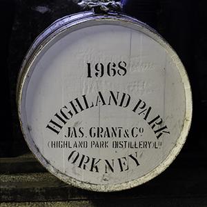One of Highland Park's 1968 casks in the distillery's warehouse. File photo ©2013, Mark Gillespie/CaskStrength Media.