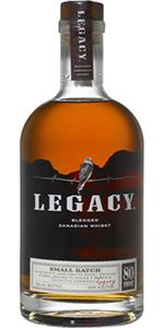 Legacy Small Batch Canadian Whisky. Image courtesy Sazerac.