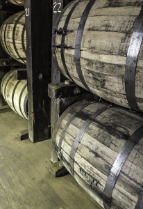 Bourbon barrels maturing in a warehouse at Stitzel-Weller Distillery in Louisville, Kentucky. File photo ©2014, Mark Gillespie/CaskStrength Media.