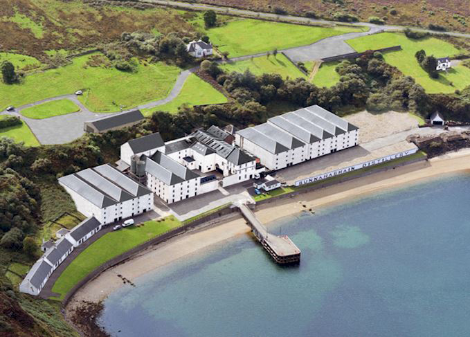 An artist's rendering of the completed Bunnahabhain Distillery renovation project. Image courtesy Distell.