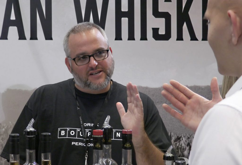 Smooth Ambler co-founder John Little talks with a consumer during The Whisky Show in London. Photo ©2017, Mark Gillespie/CaskStrength Media.