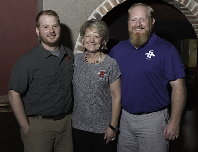 Robert, Marcia, and Jonathan Likarish of Ironroot Republic Distillery in Texas. Photo ©2017, Mark Gillespie/CaskStrength Media.