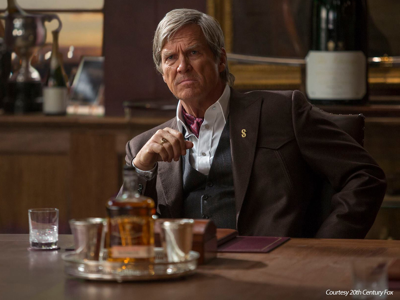 "Jeff Bridges as ""Champ,"" the leader of Statesman in ""Kingsman: The Golden Circle."" Photo courtesy 20th Century Fox."