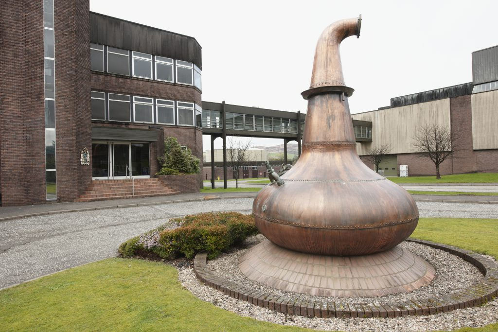 The Chivas Brothers Kilmalid blending and bottling facility in Dumbarton, Scotland. Image courtesy Chivas Brothers.