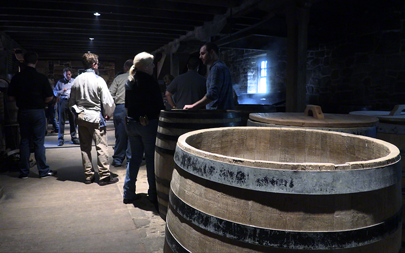 George Washington's Distillery at Mount Vernon as distillers celebrate the 10th anniversary of the restored distillery. Photo ©2017, Mark Gillespie/CaskStrength Media.