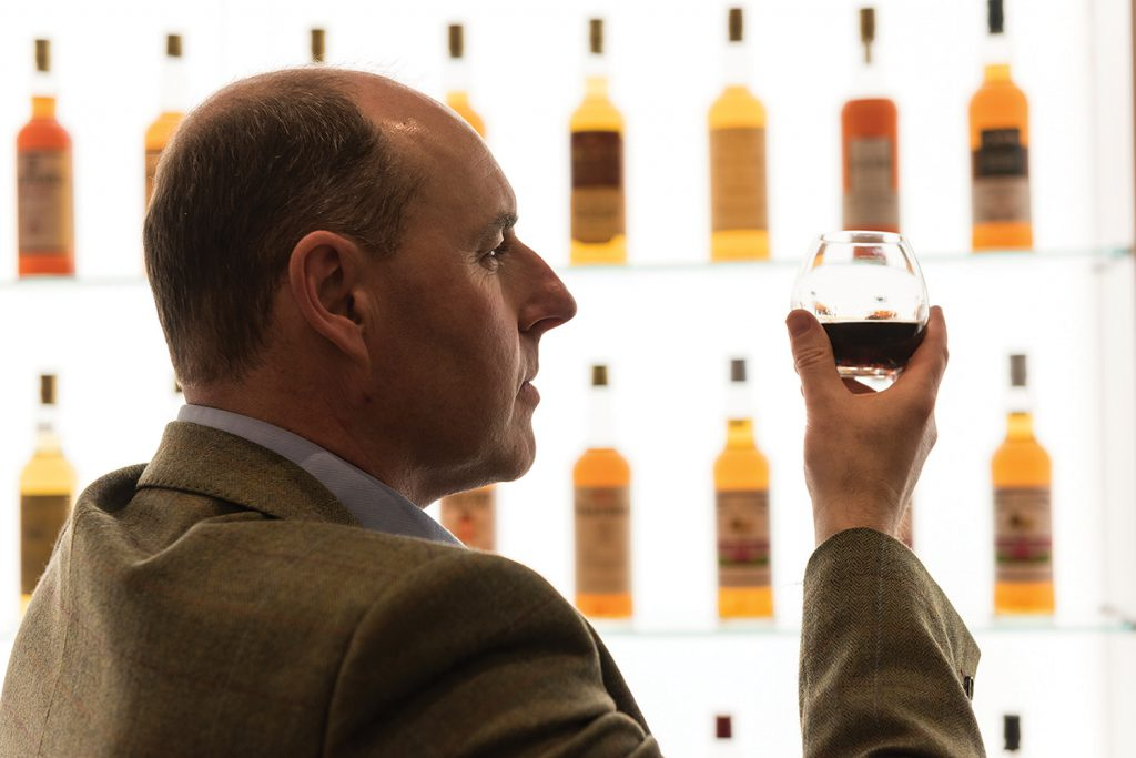 Gordon & MacPhail's Stephen Rankin with a glass of the Private Collection Glenlivet 1943. Image courtesy Gordon & MacPhail.