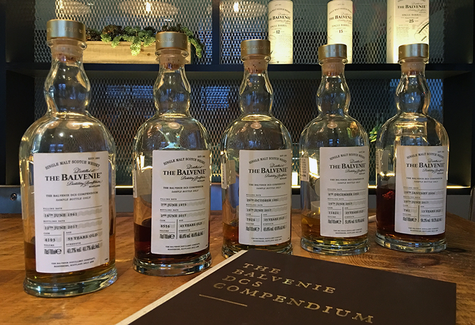 Tasting The Balvenie's DCS Compendium Chapter 3 single malts. Photo ©2017, Mark Gillespie/CaskStrength Media.