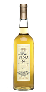 Brora 34 Years Old 2017 Release. Image courtesy Diageo.
