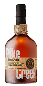 Pike Creek 21 Years Old 2017 Edition. Image courtesy Corby Spirits & Wine.