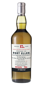 Port Ellen 37 Years Old 2017 Release. Image courtesy Diageo.