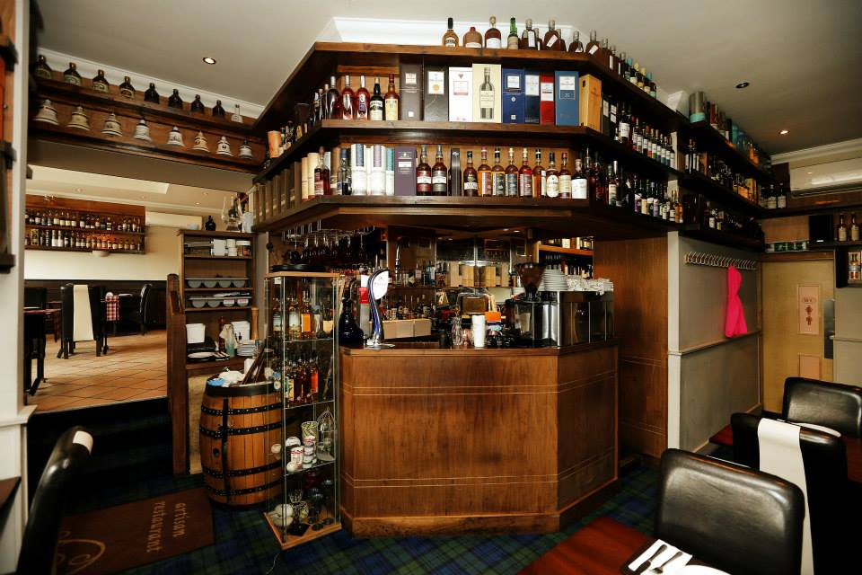 A small part of the whisky bar at the Artisan Restaurant in Wishaw, Scotland. Photo courtesy Derek Mather/Artisan Restaurant.
