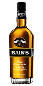 Bain's Cape Mountain Whisky. Image courtesy Distell.