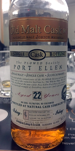 Old Malt Cask Port Ellen PLOWED Society bottling. Photo ©2017, Mark Gillespie/CaskStrength Media.