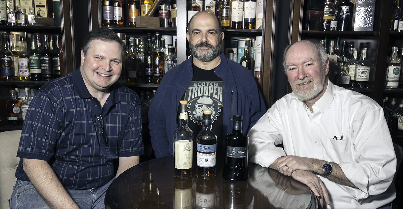 December's Tasting Panel (L-R): Mike Farley, Angelo Veneziano, and Sam Speers. Photo 2017, Mark Gillespie/CaskStrength Media.