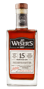 J.P. Wiser's 15. Image courtesy Corby Spirit & Wine.