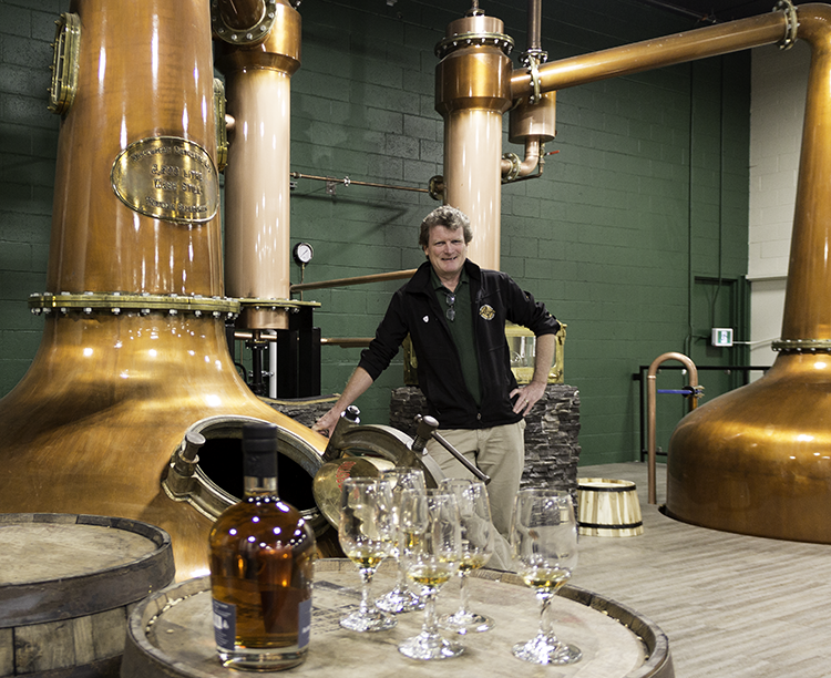 Victoria Caledonian Distillery founder Graeme Macaloney in his distillery in Victoria, British Columbia. Photo ©20189, Mark Gillespie/CaskStrength Media.