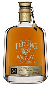 Teeling 34 Year Old Vintage Reserve Single Malt. Image courtesy Teeling Whiskey Company.