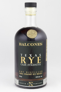 Balcones Texas Rye Cask Strength. Photo ©2018, Mark Gillespie/CaskStrength Media.