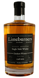 Limeburners Darkest Winter. Image courtesy Great Southern Distillery.