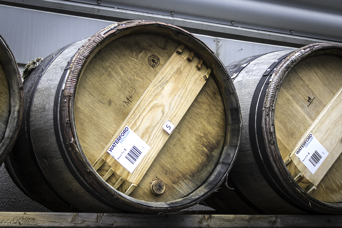 The first barrels of Waterford Irish Whiskey to be filled. File photo ©2015, Mark Gillespie/CaskStrength Media.