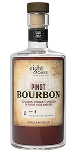 Eight Oaks Pinot Bourbon. Image courtesy Eight Oaks Craft Distillers.