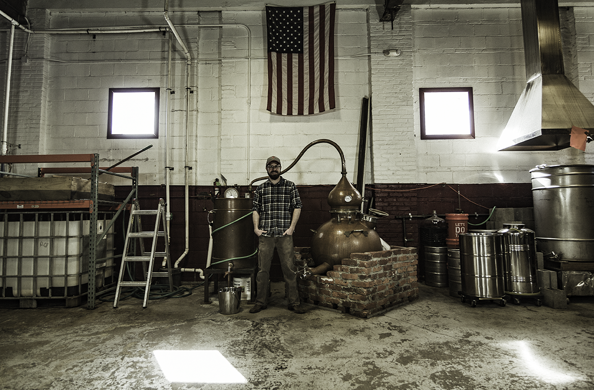 Cooper River Distillers founder James Yoakum in his Camden, New Jersey distillery. Photo ©2017, Mark Gillespie/CaskStrength Media.
