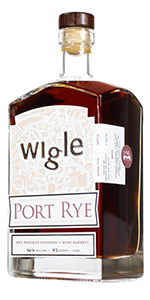 Wigle Port Rye Whiskey. Image courtesy Wigle Whiskey.