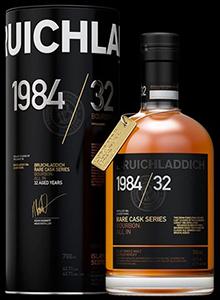 Bruichladdich Rare Cask Series 1984/32. Image courtesy Bruichladdich.