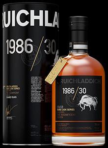 Bruichladdich Rare Cask Series 1986/30. Image courtesy Bruichladdich.