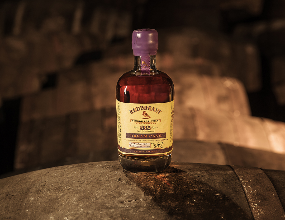 The Redbreast Dream Cask Irish Whiskey. Image courtesy Irish Distillers Pernod Ricard.