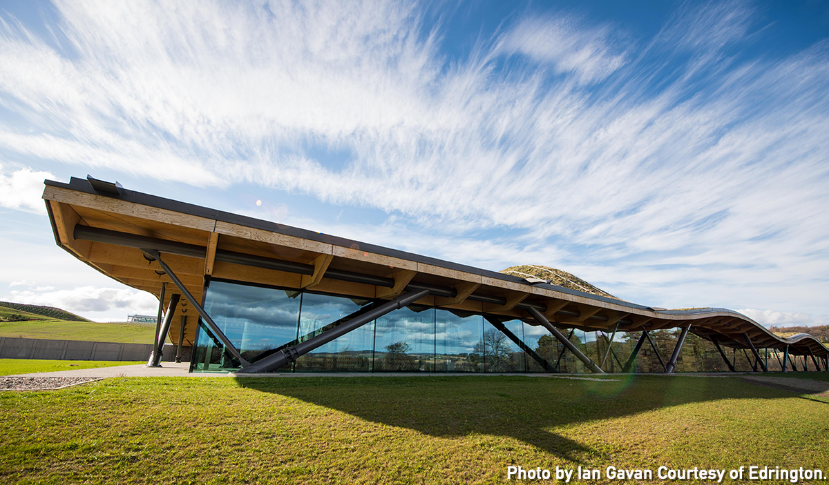 The exterior of The Macallan distillery in Scotland. Photo by Ian Gavan courtesy Edrington.