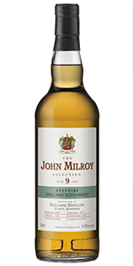 The John Milroy Selection Dailuane 9 Years Old. Image courtesy Spirit Imports.