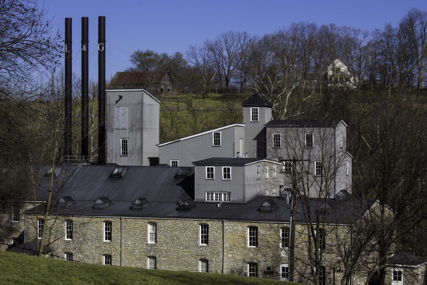 Brown-Forman's Woodford Reserve Distillery in Versailles, Kentucky. File photo ©2018, Mark Gillespie/CaskStrength Media.