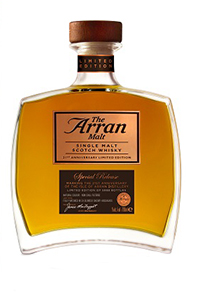 Arran 21st Anniversary Limited Edition. Image courtesy Isle of Arran Distillery.