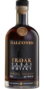 Balcones Fr.Oak Texas Single Malt. Image courtesy Balcones Distilling.